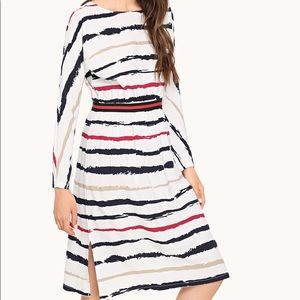 Striped Split Side Dress